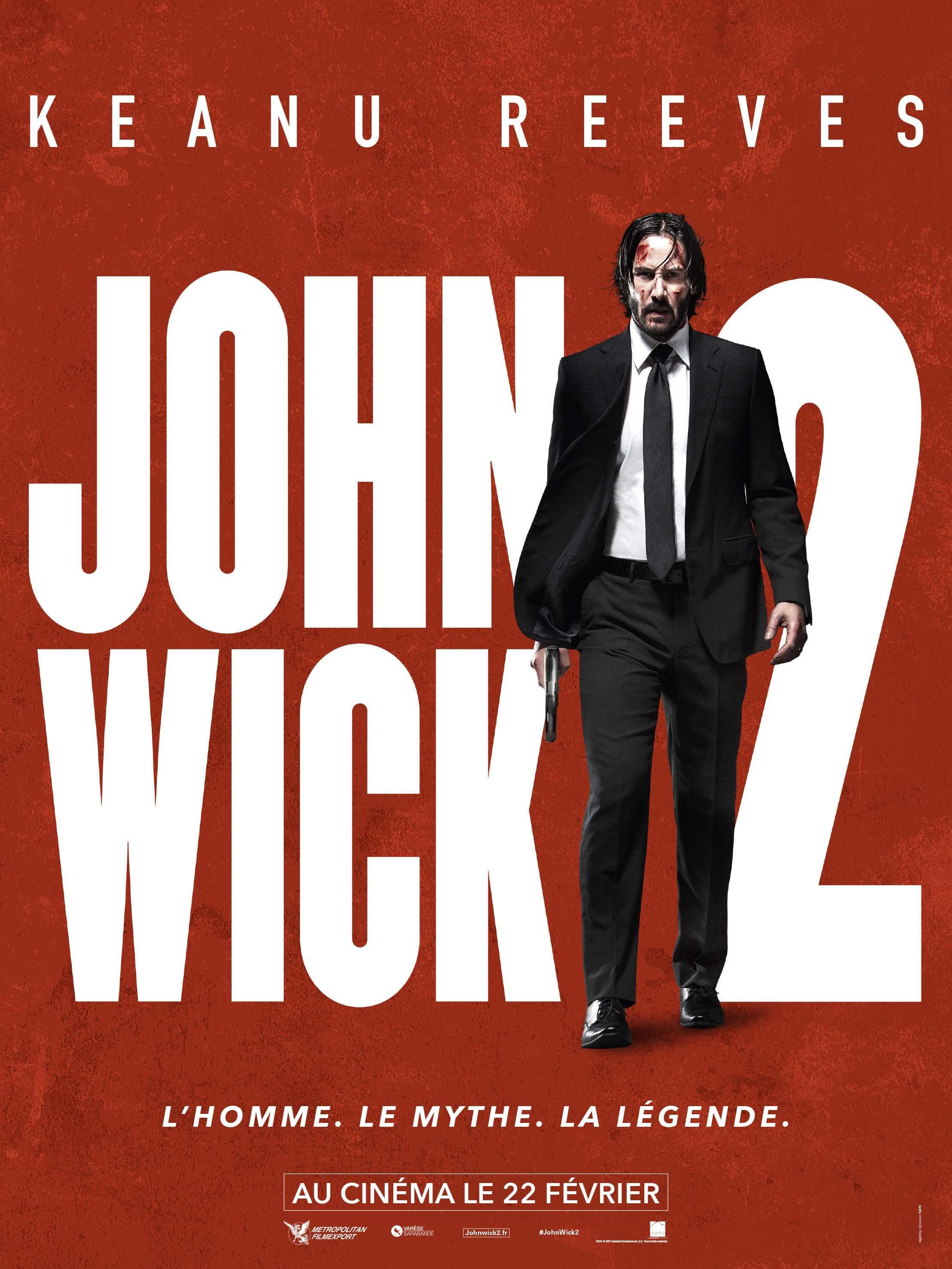Affiche john Wick2