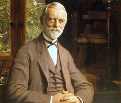 An old picture, a portrait of J.C. Jacobsen