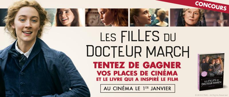 [Concours] Les filles du Docteur March – Tentez de gagner vos places de cinéma et le livre qui à inspirer le film